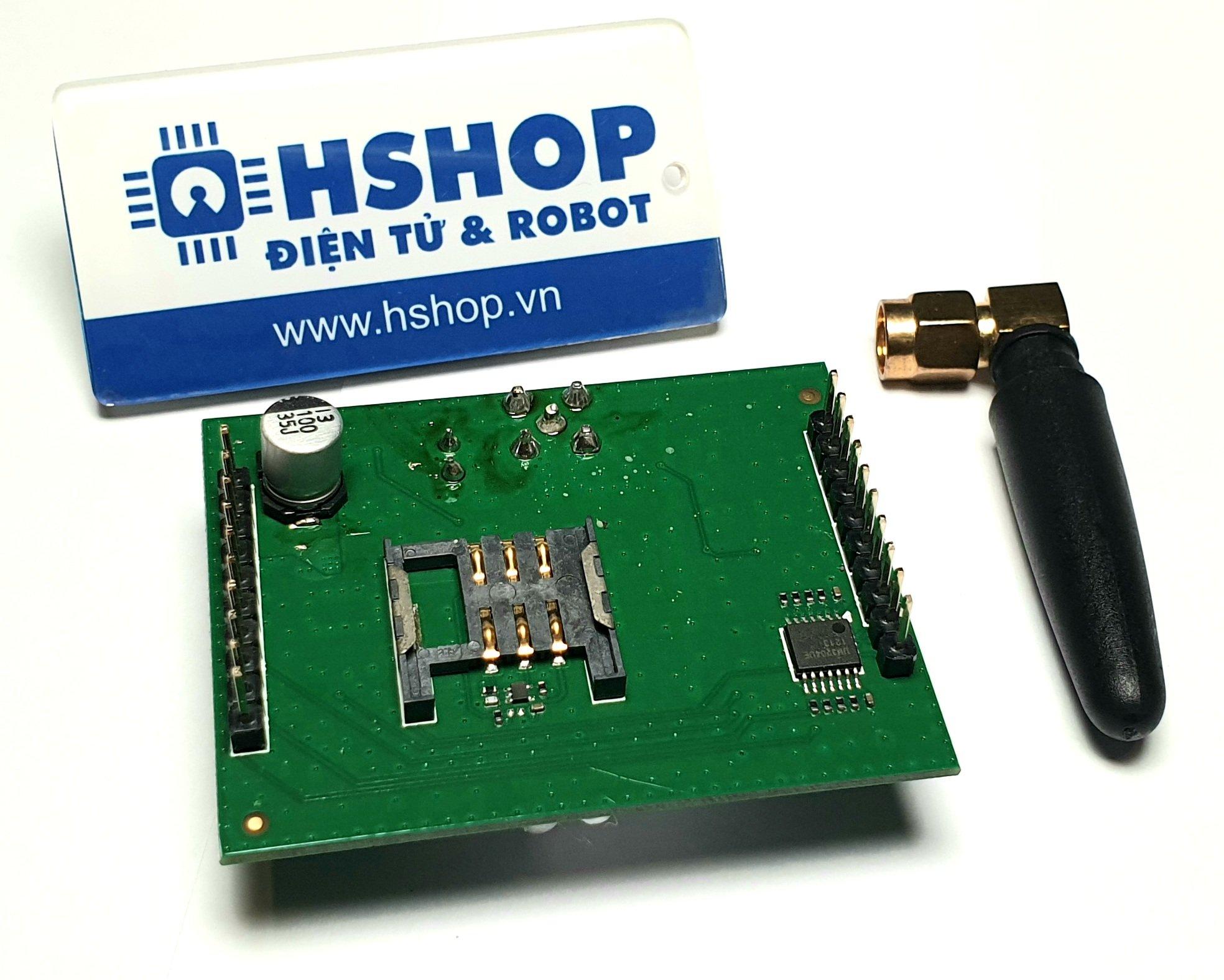Mạch GSM GPRS SIM800DS tích hợp nguồn và IC đệm