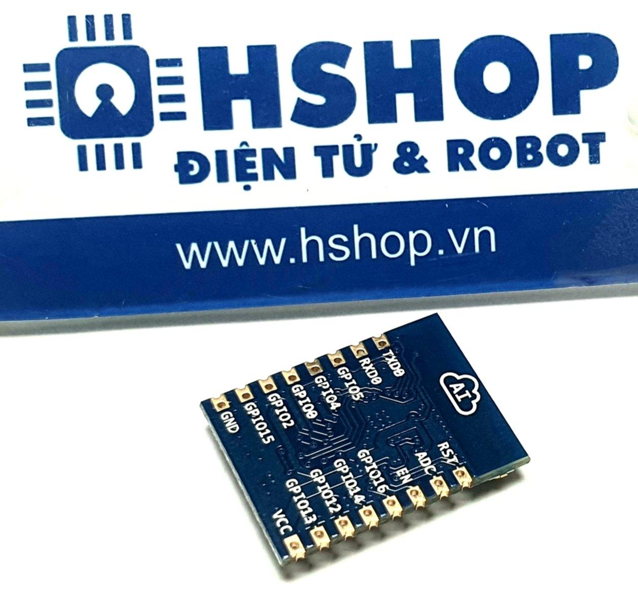 Mạch thu phát Wifi SoC ESP8266 ESP-07 Ai-Thinker