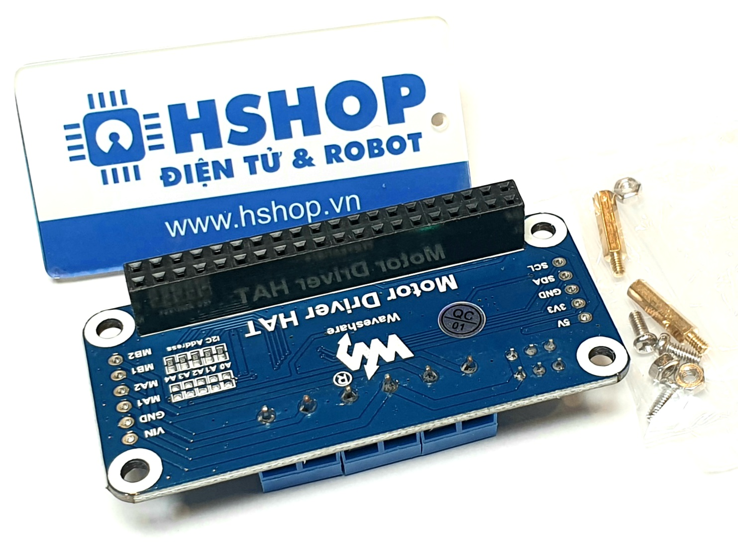Mạch Waveshare  Motor Driver HAT for Raspberry Pi I2C Interface