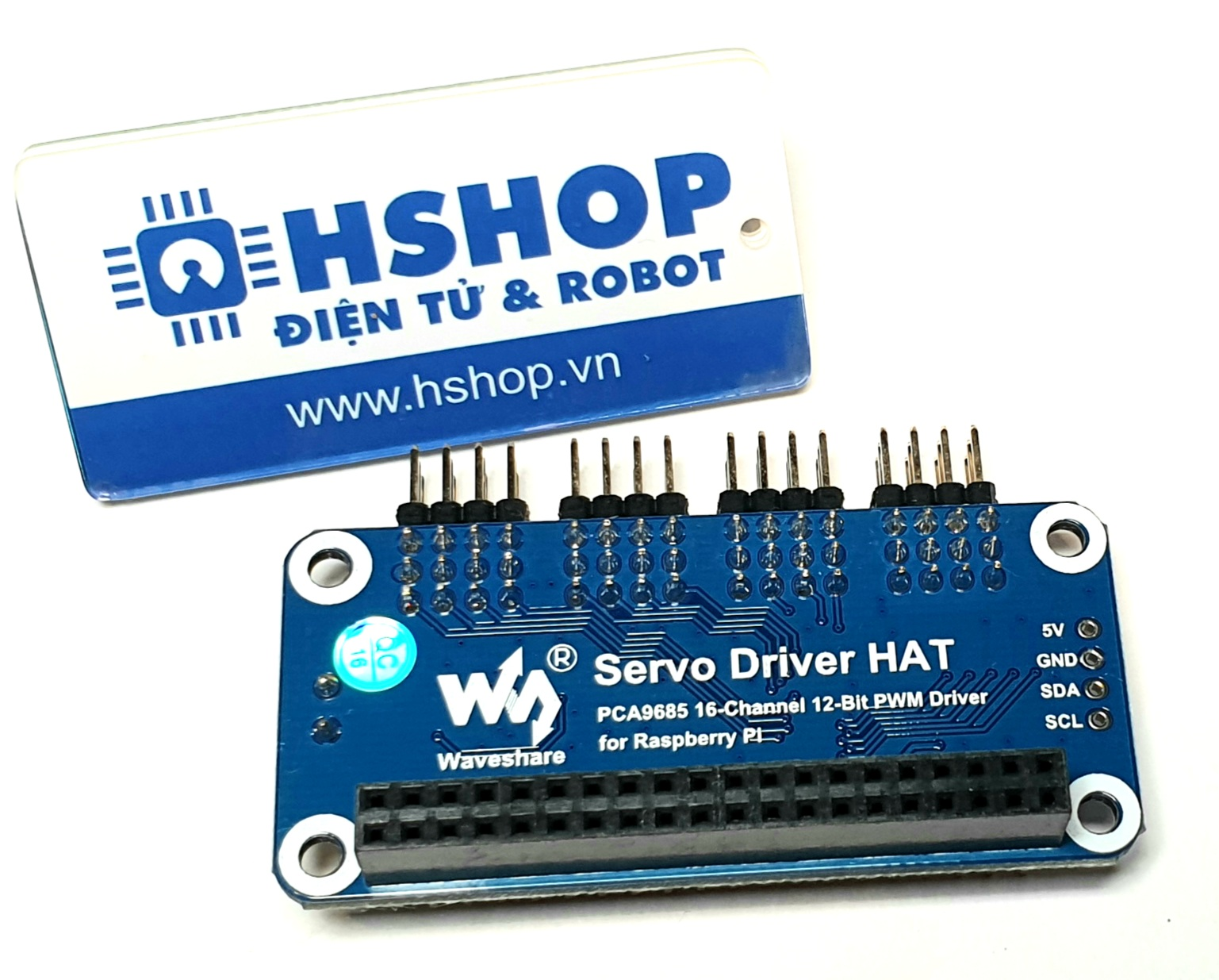 Mạch Waveshare Servo Driver HAT (B) for Raspberry Pi