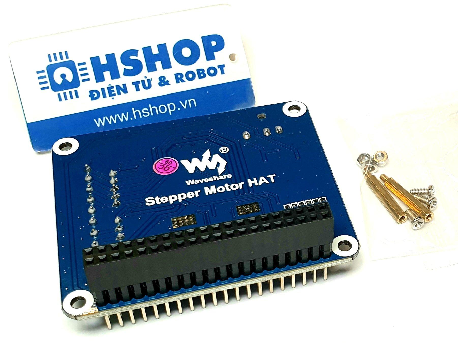Mạch Waveshare Stepper Motor HAT for Raspberry Pi