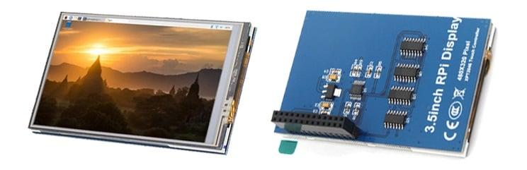 Màn Hình LCD 3.5 inch Raspberry Pi Cảm Ứng Điện Trở
