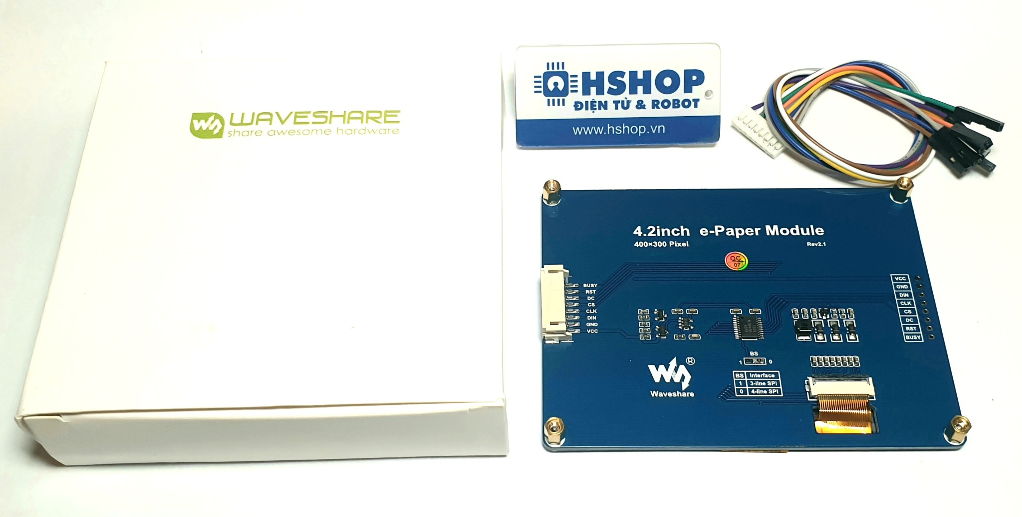 Màn hình Waveshare 4.2 inch E-Ink display module, three-color (B)