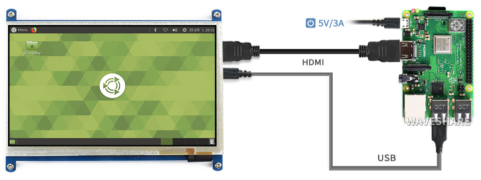 Màn hình Waveshare 7inch HDMI Capacitive Touch Screen LCD (B)