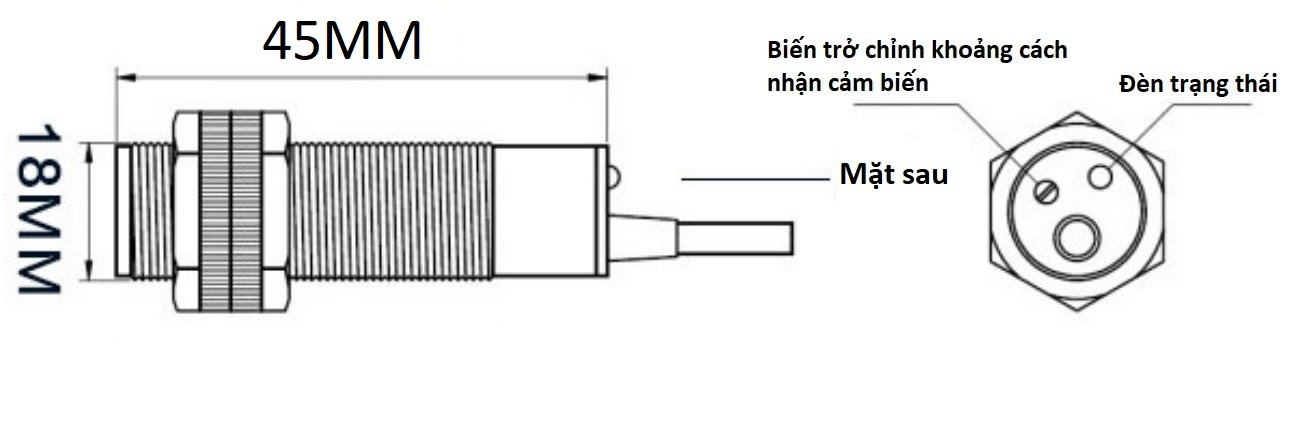 Cảm biến vật cản hồng ngoại E18-D80NK Adjustable IR Infrared Proximity Sensor