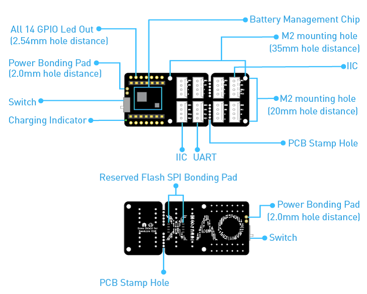 Mạch Grove Shield for Seeeduino XIAO - with embedded battery management chip