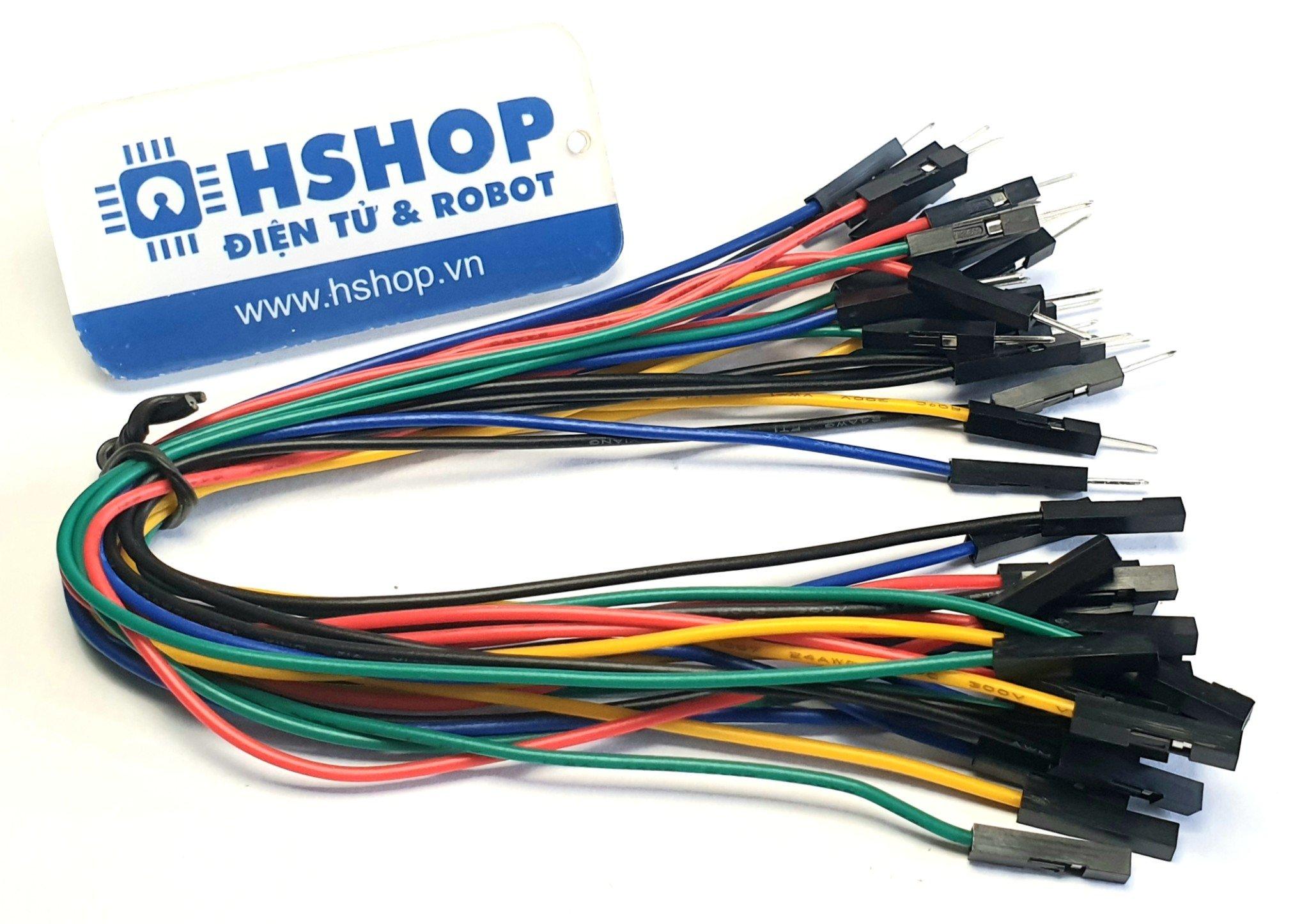 Dây Cắm Breadboard đực cái 20cm bó 25 sợi đơn loại tốt (M-F Jumper Wire)