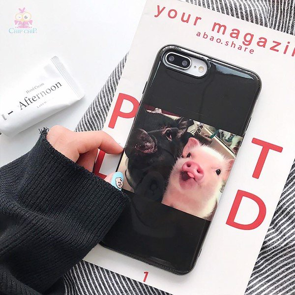 Ốp heo 3D iphone 6/7 plus