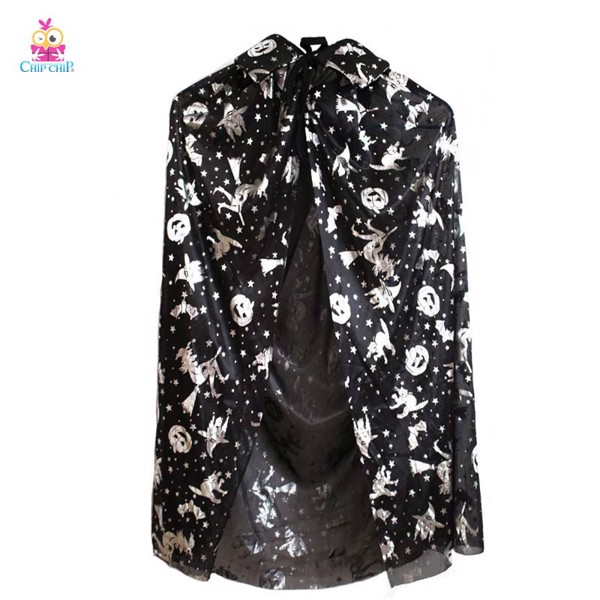 Áo choàng phù thủy bạc 140cm