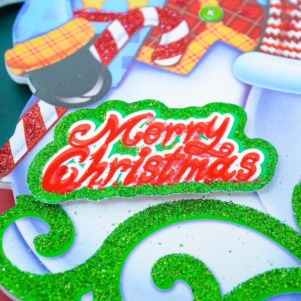 Bảng 3 người tuyết trang trí Noel