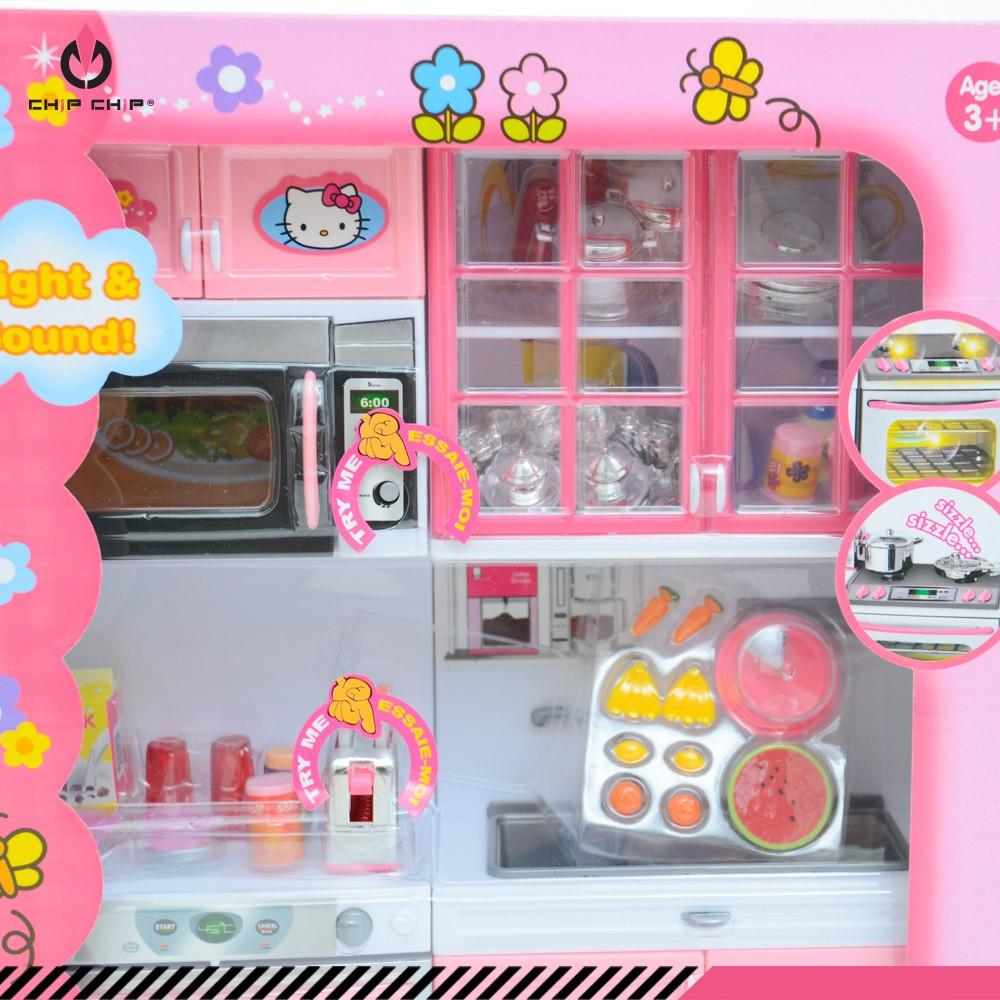 Đồ chơi bé gái bộ bếp Kitty hồng