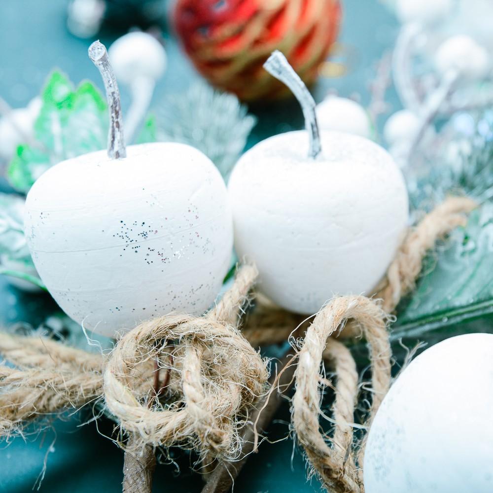 Bịch quả táo trái trắng trang trí Noel