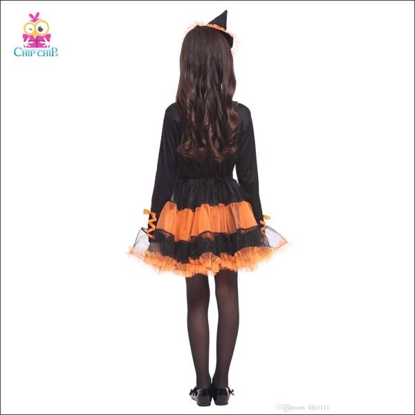 Bộ phù thủy halloween bé gái