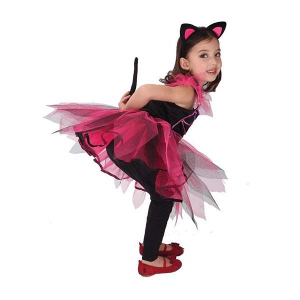 Trang phục Halloween bộ lovely cat girl