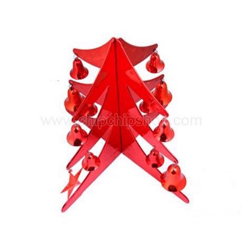 Cây thông trang trí Noel nhựa mini treo chuông