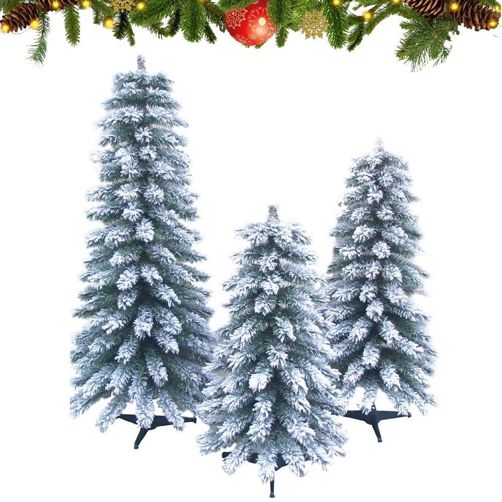 Cây thông trang trí Noel phủ tuyết