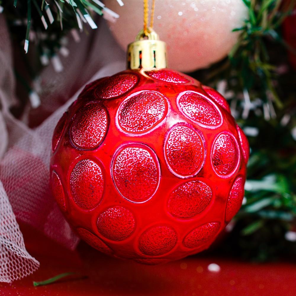Bộ châu tổ ong 60 ly 6 quả trang trí Noel