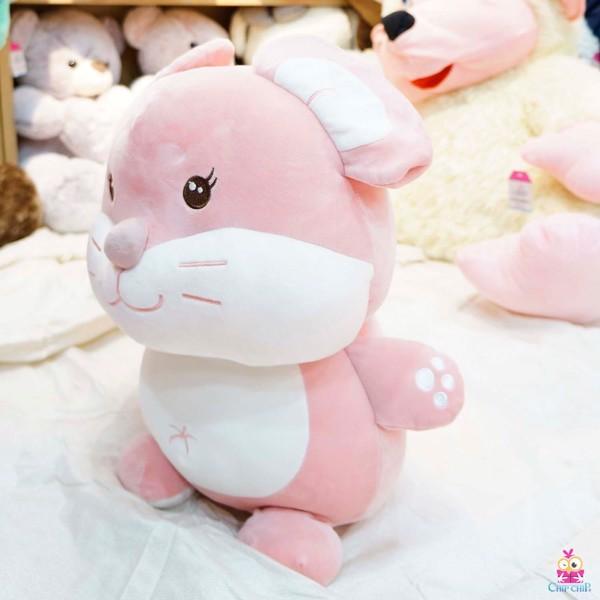 Chuột hồng ngồi mịn 55cm