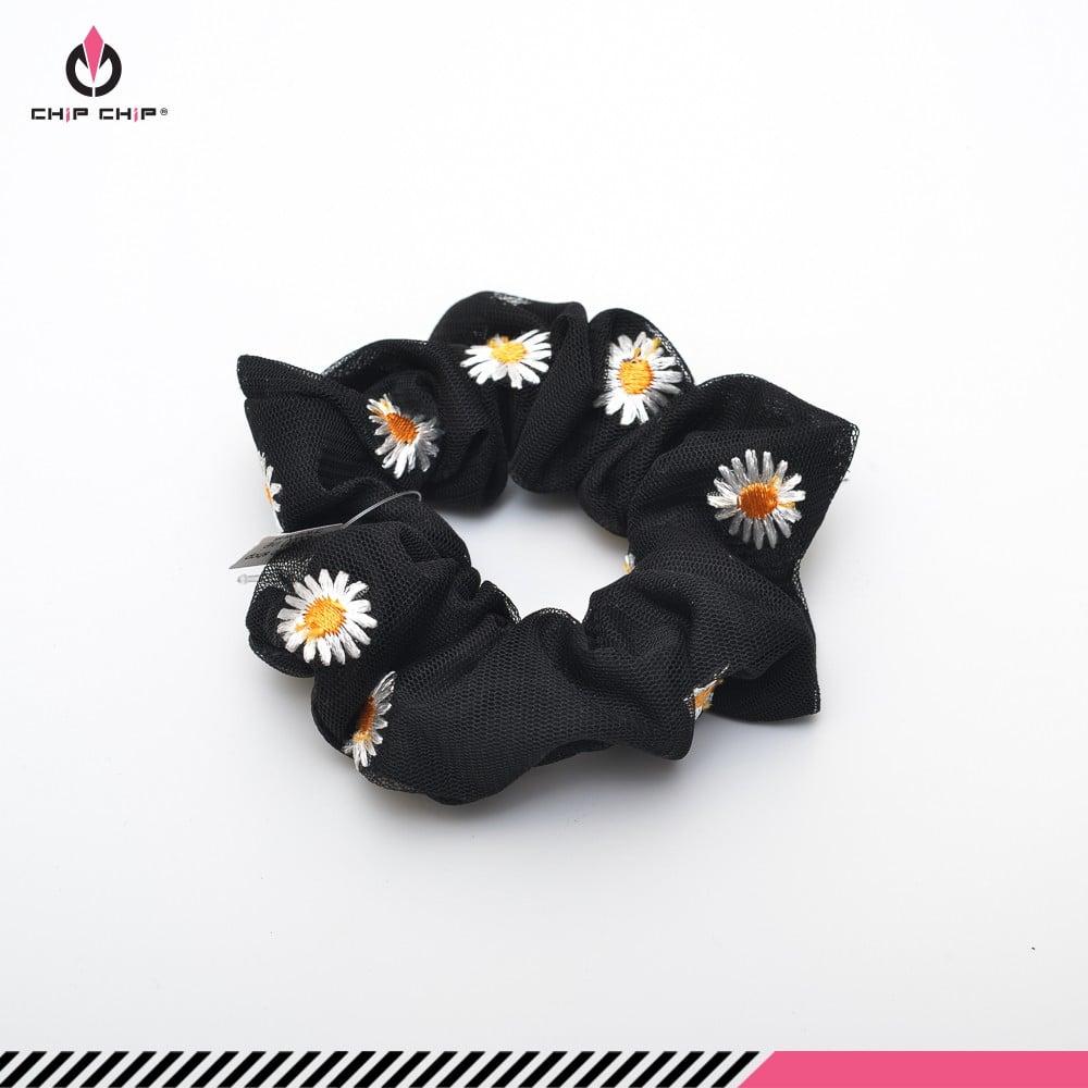 Dây buộc tóc scrunchies von hoa cúc