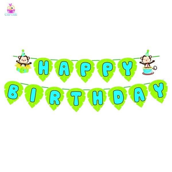 Dây happy birthday khỉ xanh