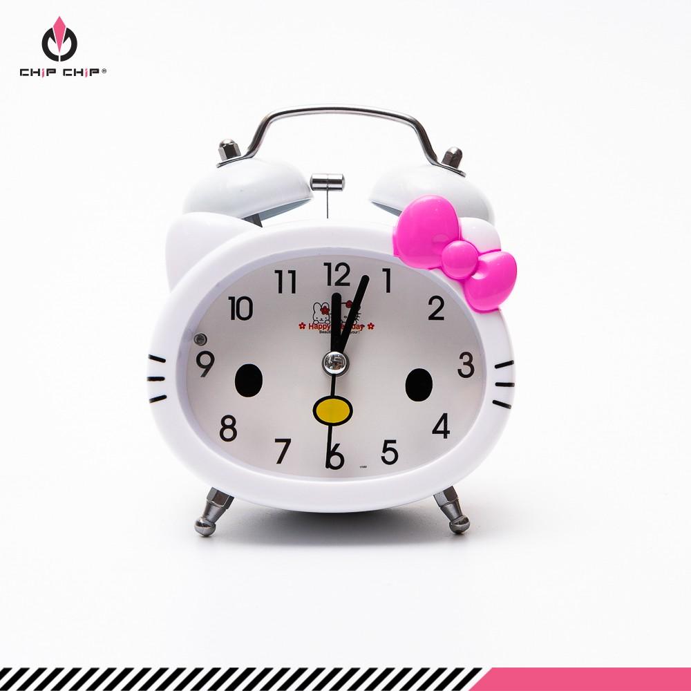 Đồng hồ báo thức chuông Kitty nơ