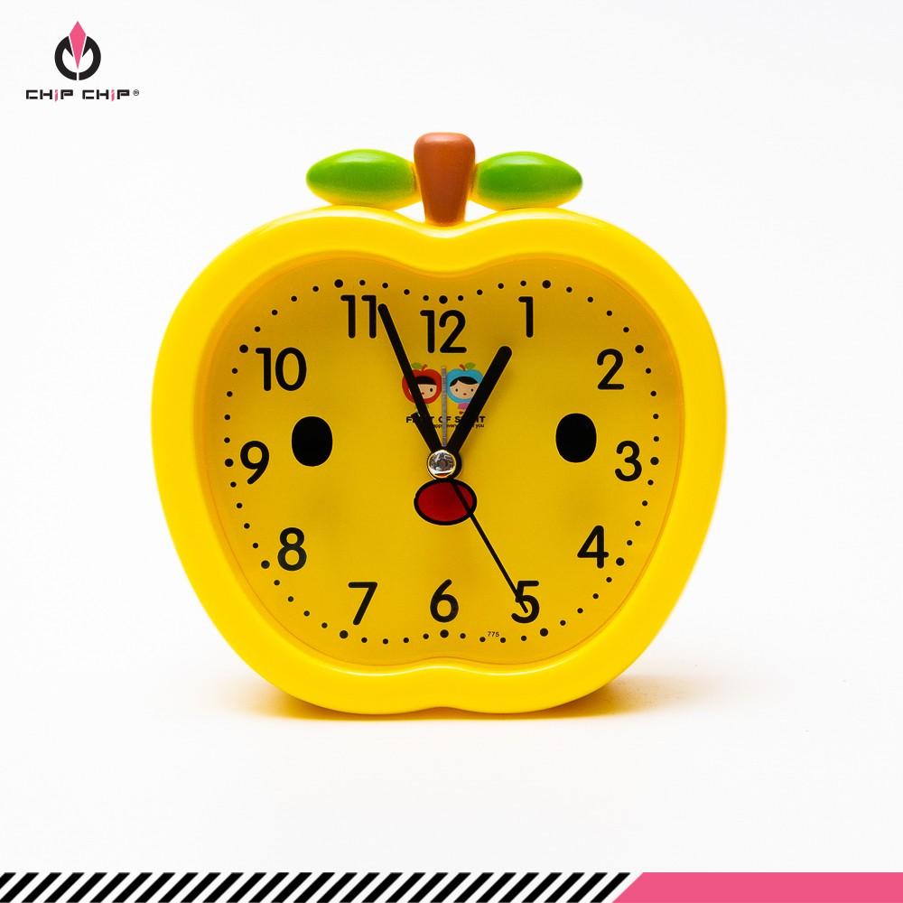 Đồng hồ báo thức trái táo vàng