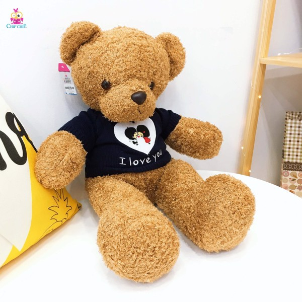 Gấu áo len i love you