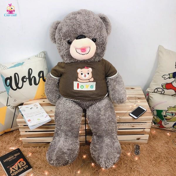 Gấu áo tim love 110cm