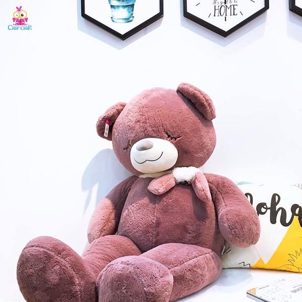 Gấu đeo khăn lá 120cm