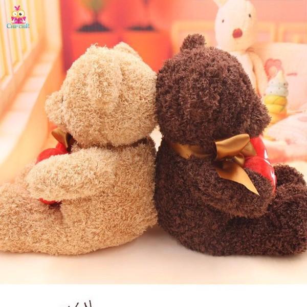 Gấu lông chỉ tim hug me