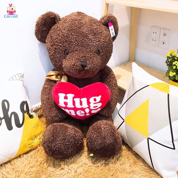 Gấu ôm tim hug me 85cm