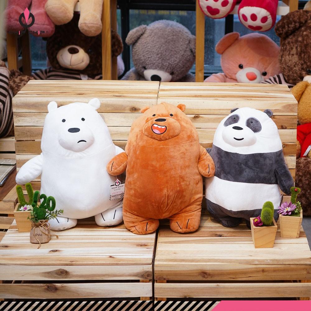 Gối mền gấu trúc We Bare Bears 50cm