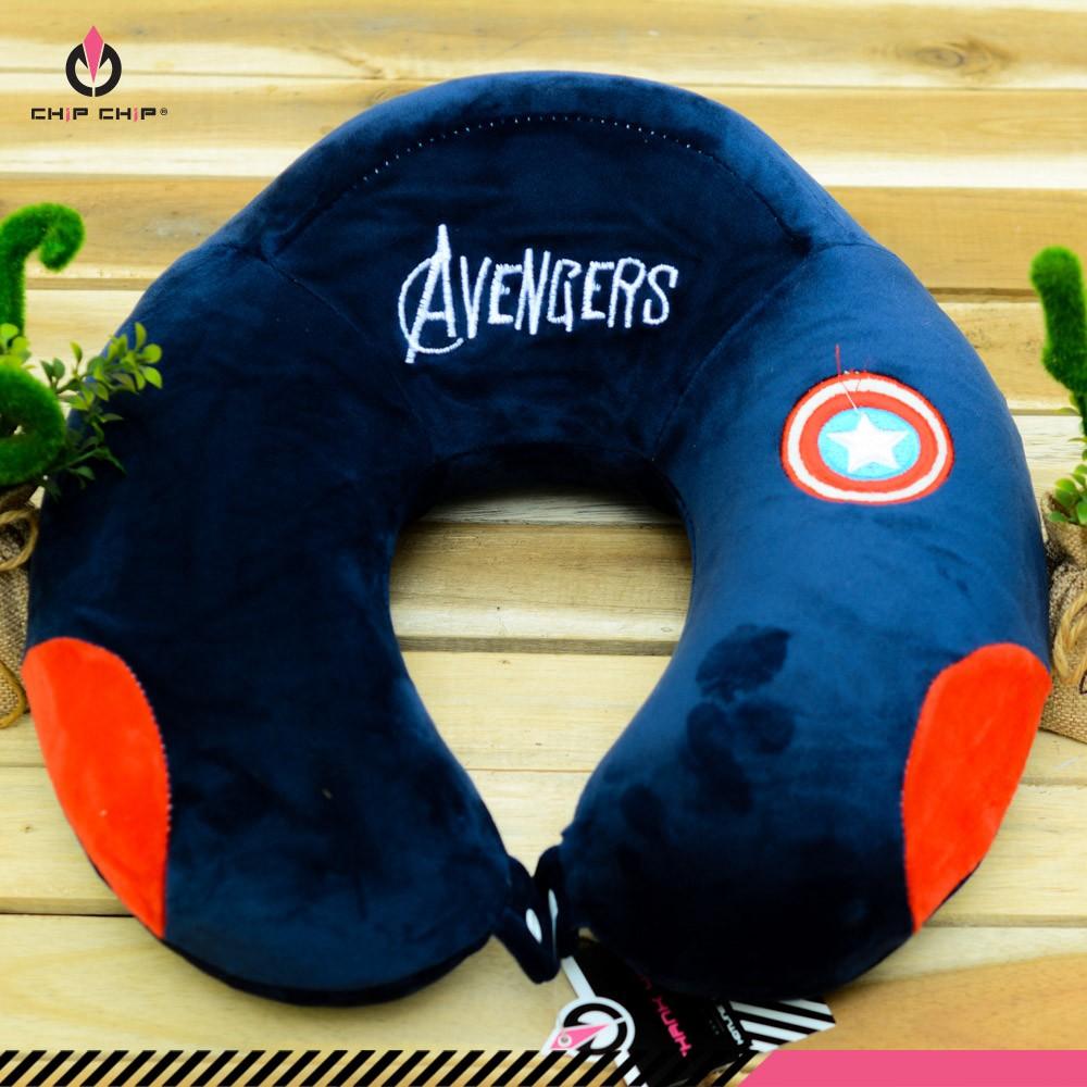 Gối cổ gù Avengers mịn
