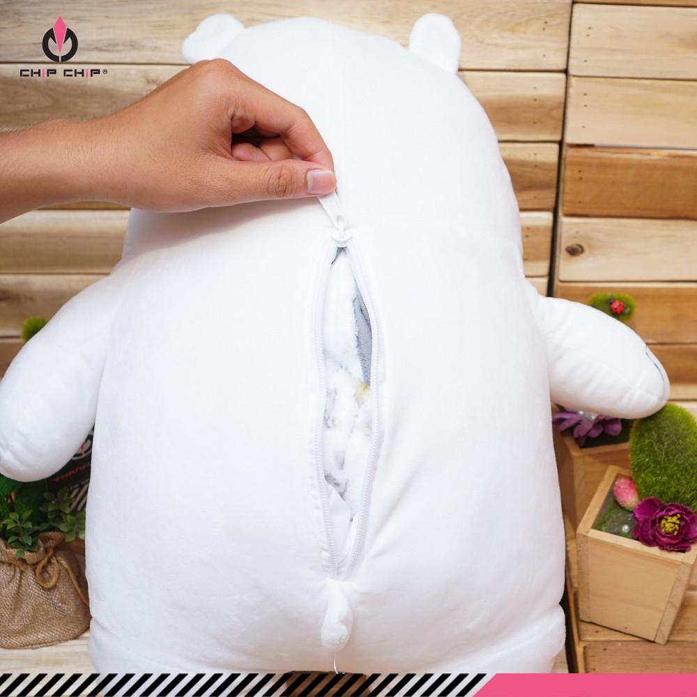 Gối mền gấu trắng We Bare Bears 50cm