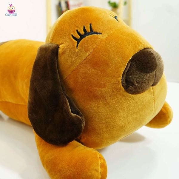 Gối mền hình chó tai nâu 55cm