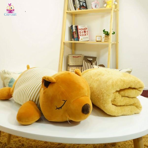 Gối mền hình gấu nâu ngủ 55cm
