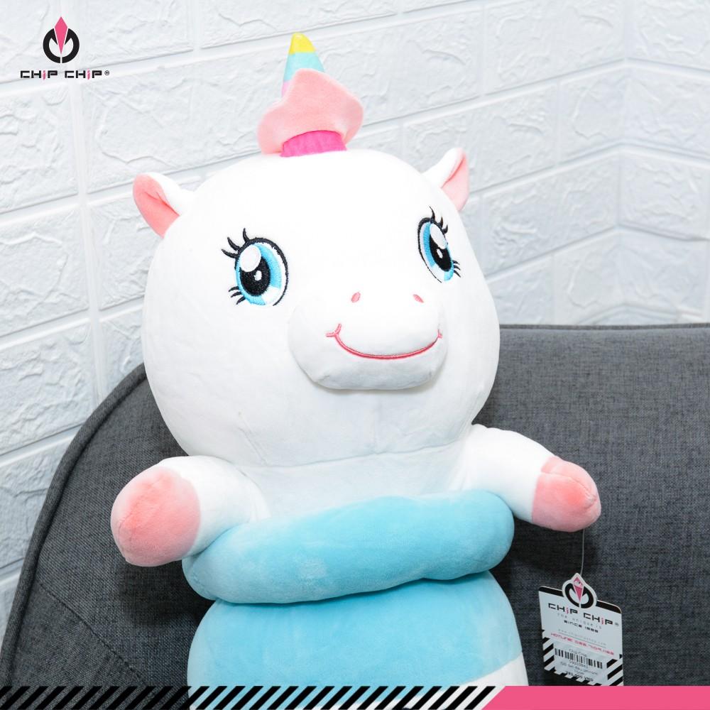 Gối ôm đầu Unicorn Dream 2 màu hồng xanh 70cm