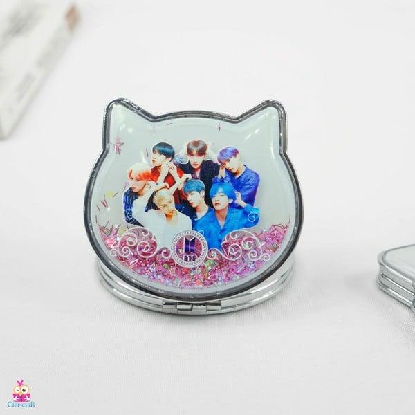 Gương mèo BTS kim tuyến