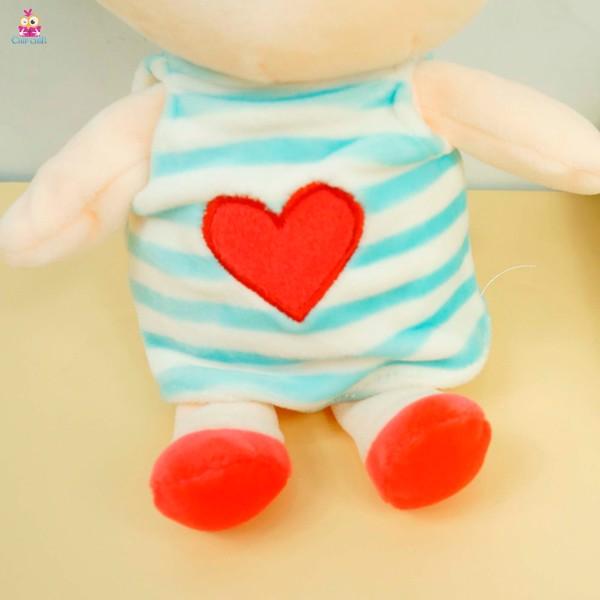 Hít kiếng bé gái trái tim mịn 25cm