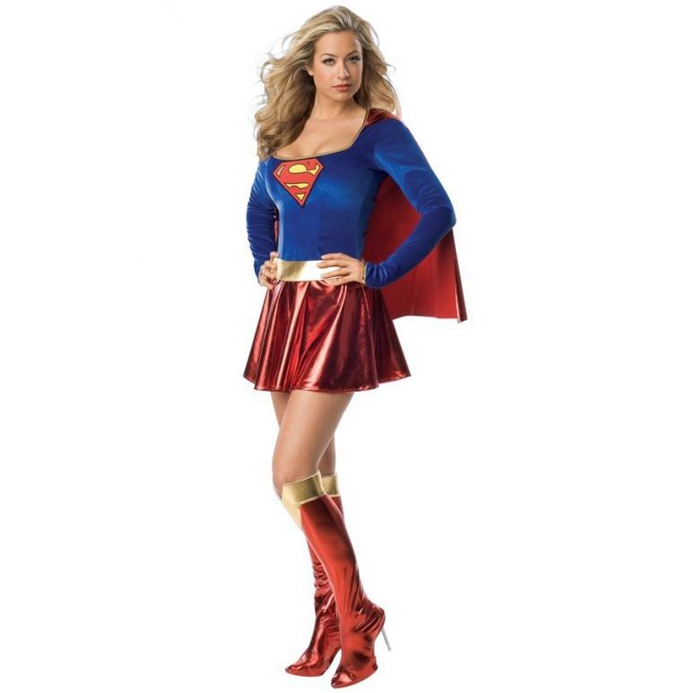 Trang phục hóa trang Halloween nữ váy superman
