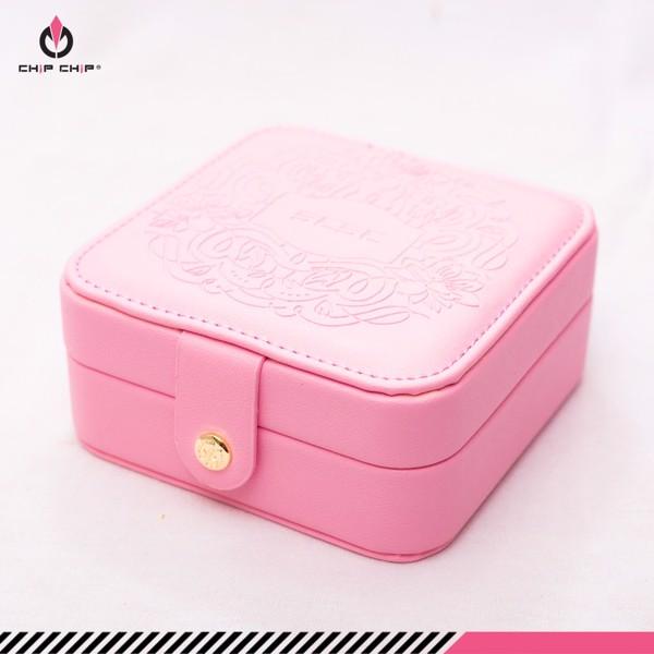 Hộp bộ vali nút bấm hoa văn da