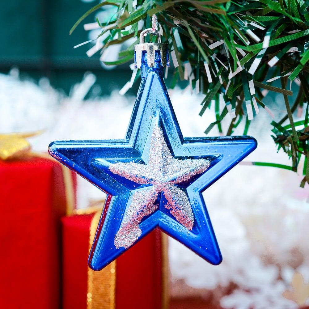 Bộ châu hình sao hộp 6 cái trang trí Noel