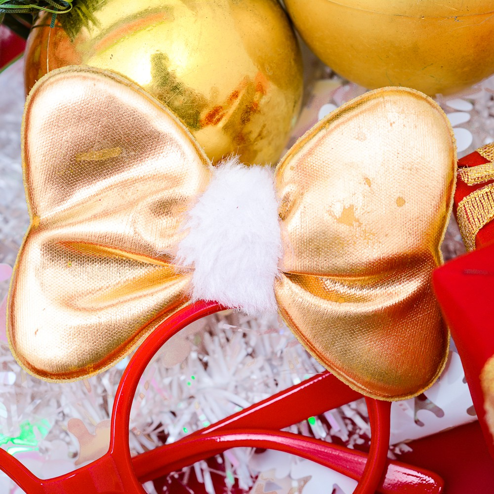 Mắt kính nón nơ phụ kiện Noel