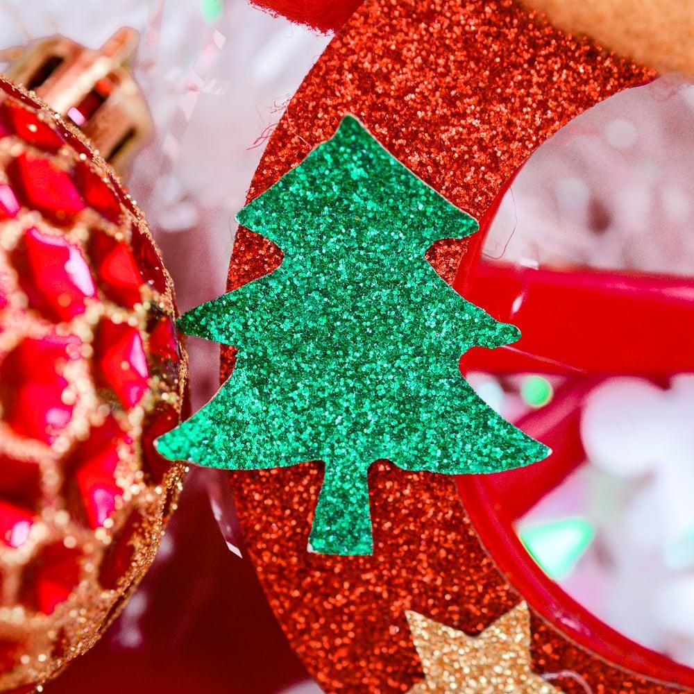 Mắt kính tròn tuần lộc phụ kiện Noel