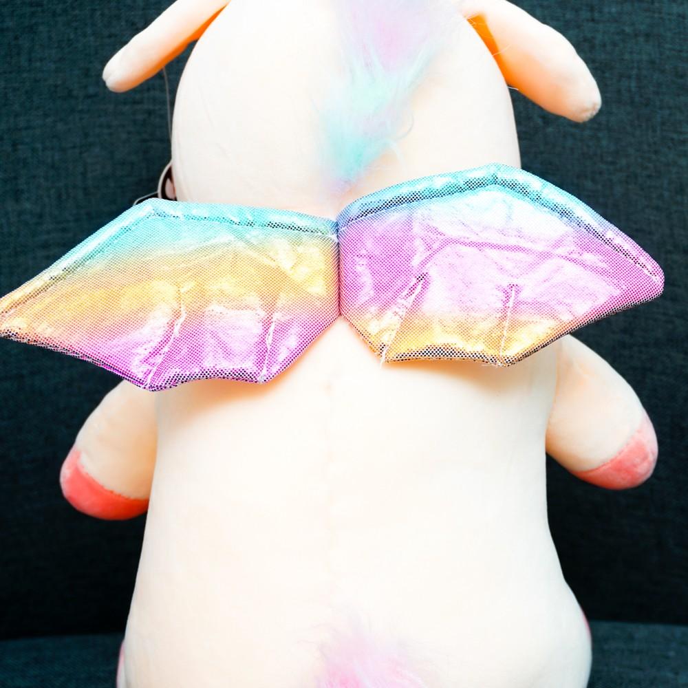Gấu bông ngựa unicorn cánh mịn 35cm