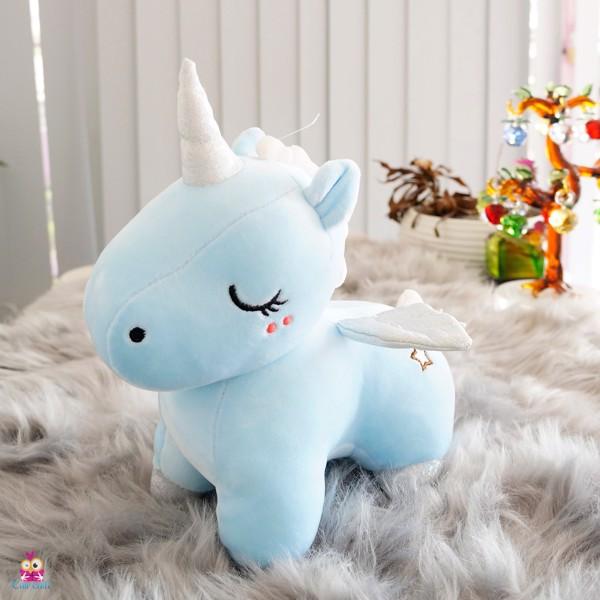 Ngựa Unicorn đứng mịn 25cm