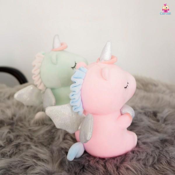 Ngựa unicorn ngồi ôm tim mịn 25cm