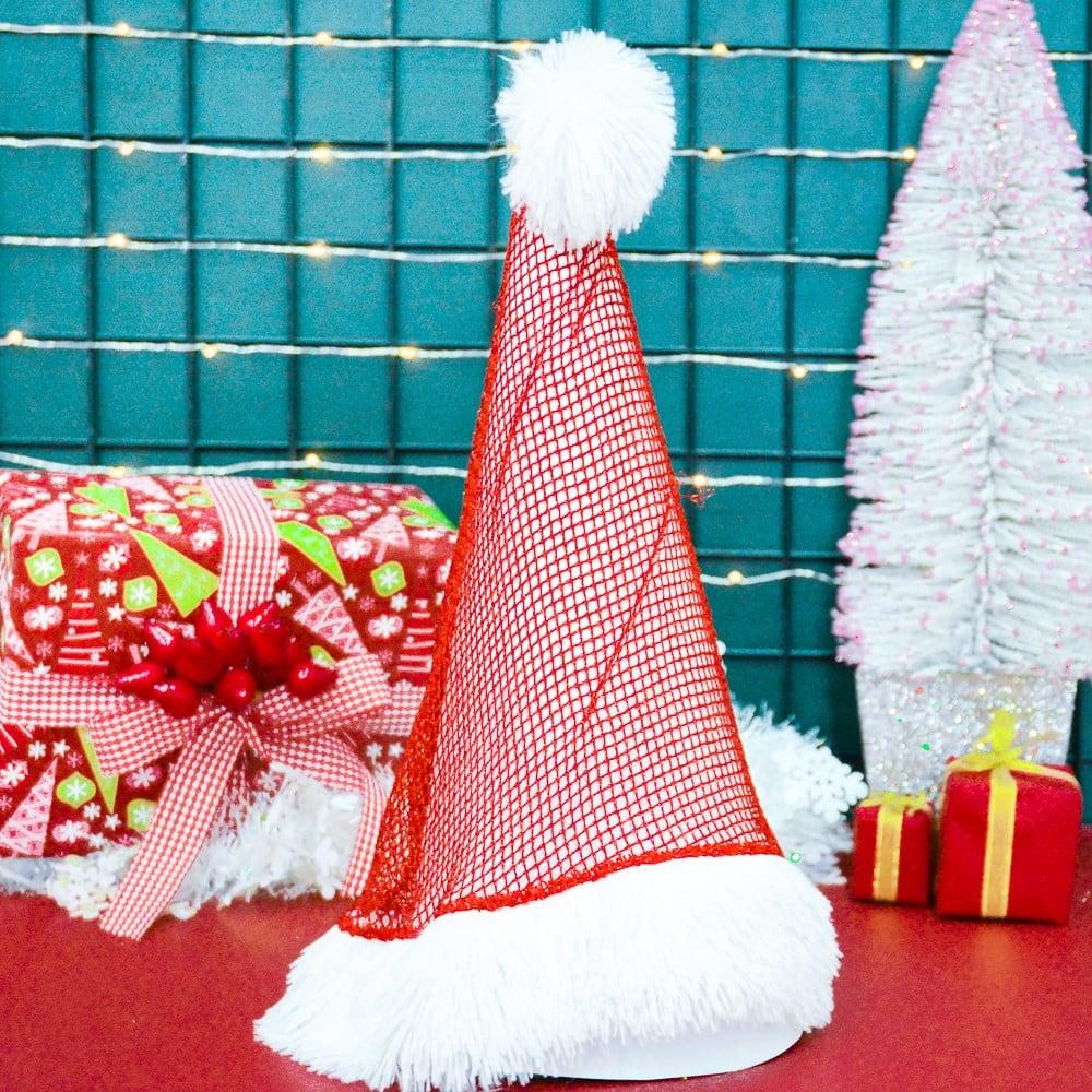 Nón lưới đỏ phụ kiện Noel