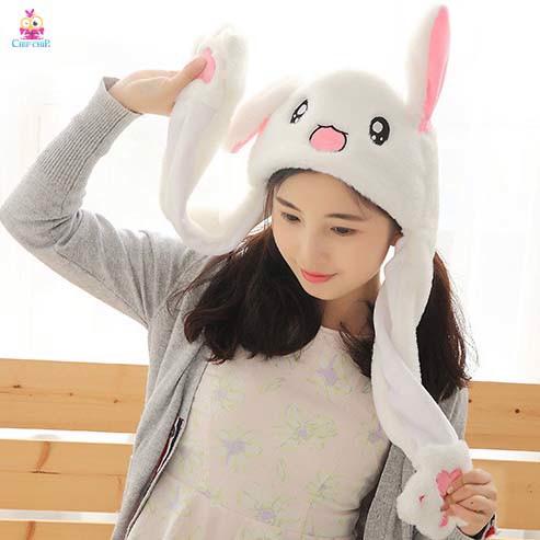 Nón vẫy tai thỏ trắng