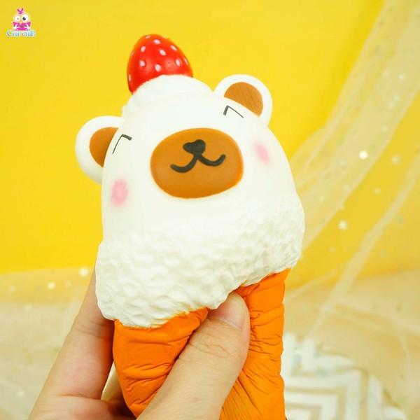 Squishy cây kem gấu